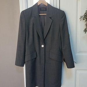 Dana Buchman gray suit coat